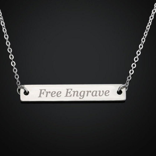 Personalized Name Bar Necklace For Women