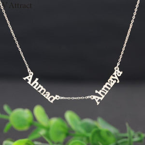 Personalized Two Name Necklace For Couples And Best Friends