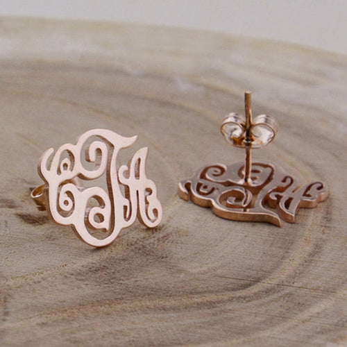 Customized Letters Stud Earring