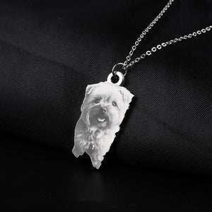 Personalized Pet Necklace  With Photo On Sale