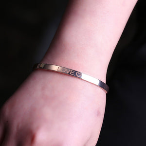 Personalized Initial Engraved Name Bracelet For Woman