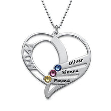 Personalized Mom Necklace With Birthstone