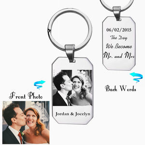 Personalized Photo Engraved Key-ring