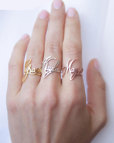 Beautiful Personalized Name Rings For Women