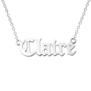 Personalized Name Necklace- Old English Style