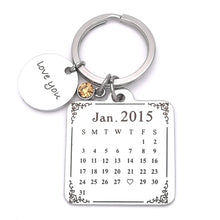 Custom Calendar Keychain With Stone