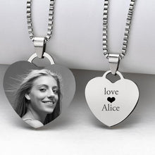 Customized Photo Necklace With Name