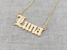Custom Old English Name Necklace