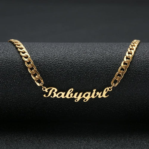18K Gold Plated Personalized Name Necklace Christmas Gifts For Women