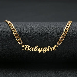 18k Gold Personalized Name Necklace
