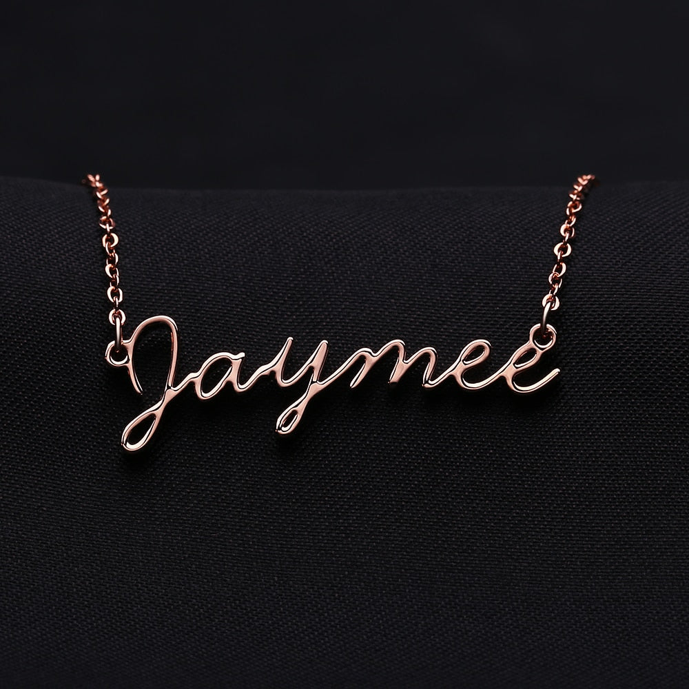 Personalized Cursive Font Necklace For Women