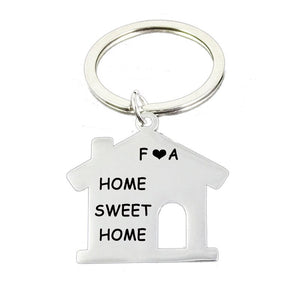 Personalized Home Shape Key Chain