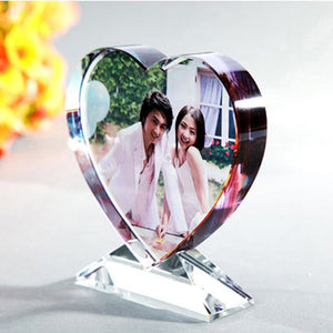 Personalized Crystal Glass Photo Frame