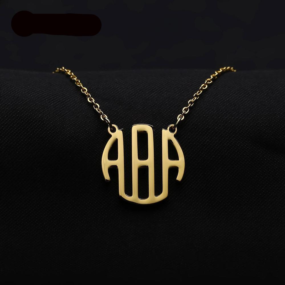 Personalized Monogram Necklaces  For Women