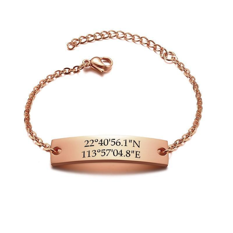 Custom Coordinate ID Bracelets for Women