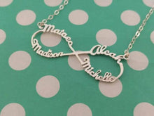 Personalized Infinity Necklaces With 4 Names