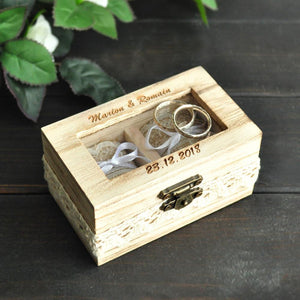 Custom Ring Box With Double Ring Holder
