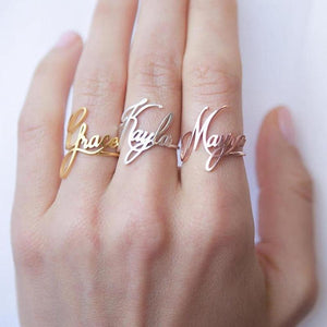 Custom Name Rings For Women