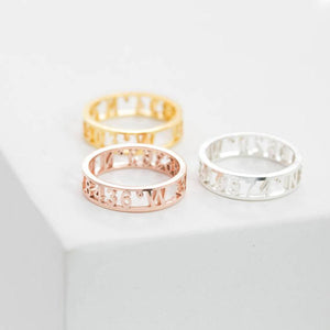 Personalized Name Ring With Name/Word