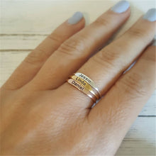 Personalized Stackable Ring