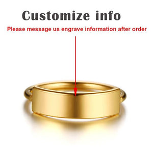 Personalized Name Rings Gold Color