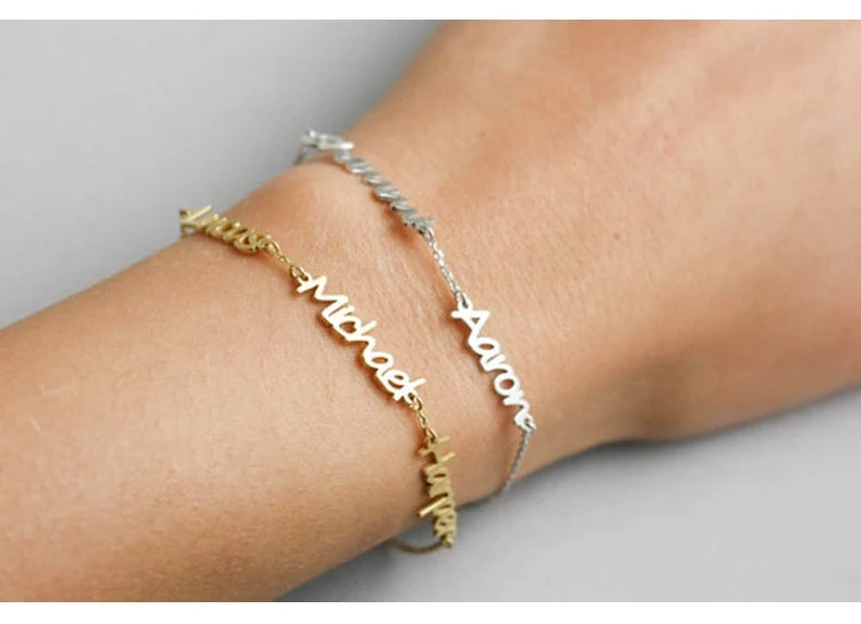 Personalized Name Bracelet With 3 Names