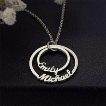 Personalized Circle Name Necklace With Couples Name