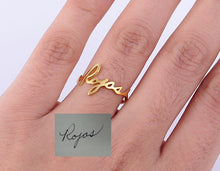 Personalized Font Name Ring