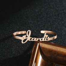 Custom Name Bracelets With Two Heart For Women