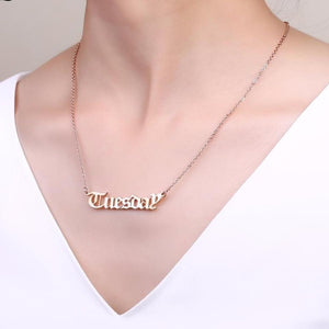 Custom Name Necklace Old English Font Pendant