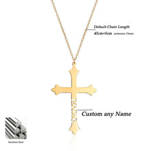Custom Name Cross Pendant Necklace