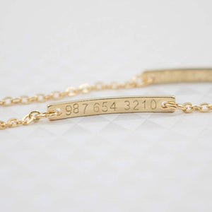 Personalized Baby Name Bar ID Bracelet