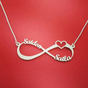 Personalized Infinity Necklace With 4 Names