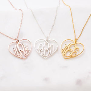 Personalized Stainless Steel Monogram Necklace