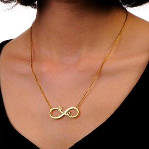 Custom Infinity Arabic Name Necklace REAL GOLD PLATED