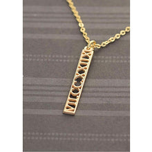 Personalized Roman Numeral Vertical Bar Necklace