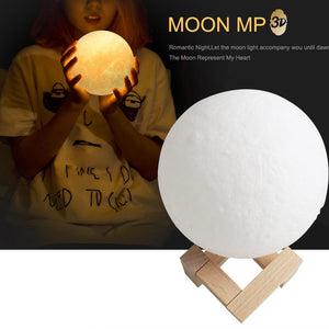 Personalized 3D Photo Printed Moon Light Valentine Gift -FCC Certified