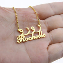 Personalized Arabic & English Name Necklace- Two Names Necklaces