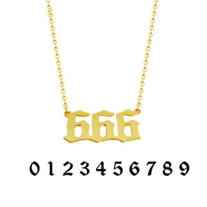 Custom Number Necklace -Custom Year, Date, Number, Code
