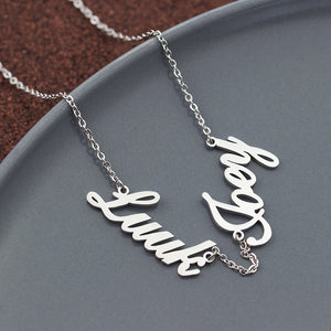 Custom Double name necklace