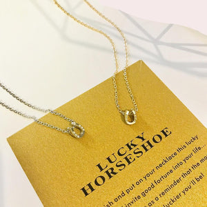 Lucky Horseshoe Necklace For Women
