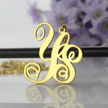 Personalized 2 Initials Monogram Necklace