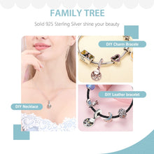 Family Tree With Cubic ZIRCONIA Charms For BRACELET