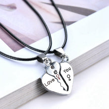 Lock And Key Pendant Necklace For Lovers