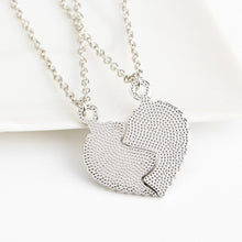 Puzzle Heart Pendants Matching Necklaces