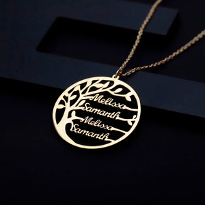 Stainless Steel Personalized Family Tree Necklace