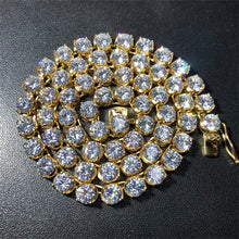 Hip Hop Jewelry Sets- Flower CZ 4mm 6mm Tennis Chain