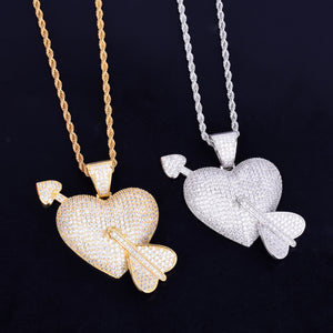 Heart With Arrow Pendant Necklace