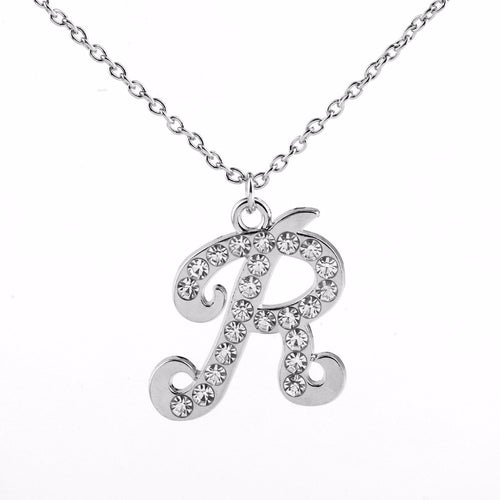 Letter R Initial Necklace