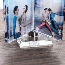 Custom Four Picture Rotated Crystal Photo Frame